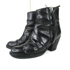 Acne Studios Ankle Zip Leather Heeled Booties